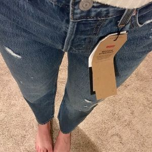 NWT WEDGIE STRAIGHT LEVIS high rise button fly 28